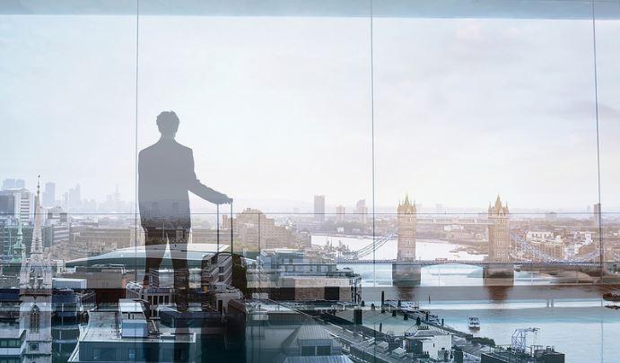 London businessman transparent